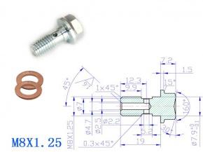 Holender M8x1,25 19mm