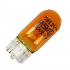 Žiarovka 12V 5W W2,1x9,5d W5W celosklenená-oranžová