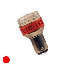Žiarovka LED 19xLED 12V (P21/5W) BAY15d červená
