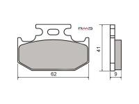 Brzdové obloženie RMS oragnické pre Yamaha DT 125, TT 250-600