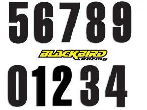 Štartovacie čísla BlackBirdRacing 13x7cm čierne
