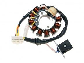 Stator cievka GY6 125 a 150cc 152/157QMI 11 cievok 6 pin alternator