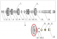 Záberové koliesko 520 16z pre Keeway Supershadow, Cruiser 250