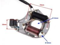 Stator cievka zapalovacia ATV110-125 2cievky magneto