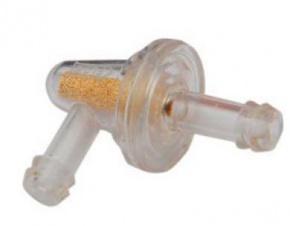 """Filter paliva 6,3mm bronzový 1/4"""" 90° univerzálny"""
