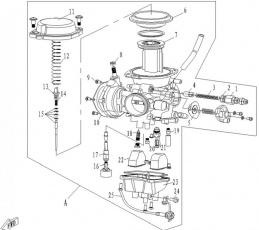 Ihlový palivový ventil 0180-100200 CFMOTO