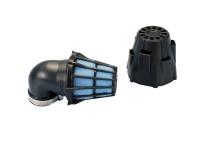 Vzduchový filter Polini Blue Air Box 32-37-46mm 90° Black-blue