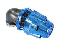 Vzduchový filter Polini Blue Air Box 32-37-42mm 90°  Blue Black
