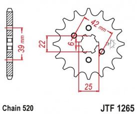 Záberové koliesko aj pre CanAm DS250 15zubové