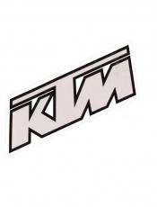 Nálepka KTM 10x4cm šedá
