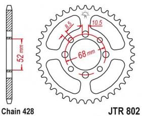 Rozeta 34 až 49zubov reťaz 428 pre ATV/Pitbike