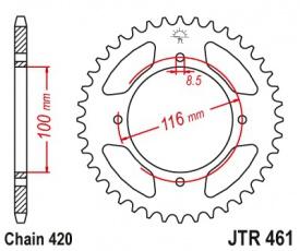 Rozeta 50 zubov 420 pre Kawasaki KX80 85 r86-12