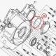 Gumička pod kryt olejového filtra 63x2,5 CF MOTO Gladiator X450/X520/X550/X8/Z8, 0800-014003