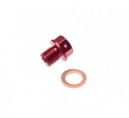 Skrutka výpuste oleja M12x1,25 magnetická RED