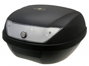 Kufor Top 51 litrový maxi trunk - čierny, číre sklíčka