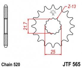 Záberové koliesko 13z  520 pre Suzuki GS, Yamaha XT, TT, DT