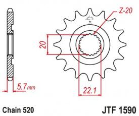 Záberové koliesko JTF1590 12zubové reťaz 520
