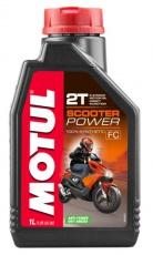 Olej pre skútre Motul Scooter Power 100%syntetic 2T 1L API TC JASO FD