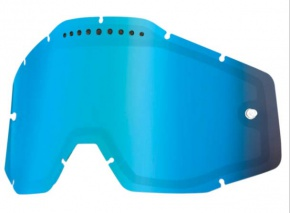 Sklo 100% dvojité Anti-Fog Blue Mirror