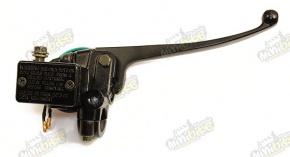 Brzdová pumpa pravá okrúhly spínač držiak zrkadla M10
