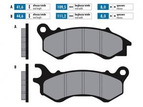 Brzdové obloženie pre Honda PCX 125 (10-), NSC, Vision, Peugeot Polini organické
