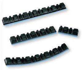 Samolepiace závažia na vyvažovanie kolies 5gx7 a 2,5gx6 čierne