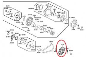 Poloremenica variátora pre Kymco  Xciting 500i ( AFI )