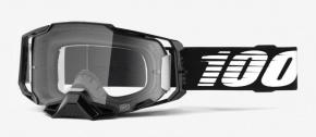 Okuliare 100% Armega Black Clear Lens