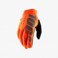 "100% rukavice ""BRISKER"" Fluo Orange/Black"