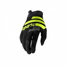 100% rukavice I-TRACK black/fluo yellow
