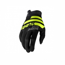 Rukavice 100% I-TRACK black/fluo yellow