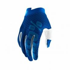 100% rukavice I-TRACK blue/navy