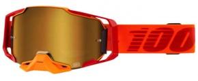 Okuliare 100% Armega Litkit True Gold Mirror
