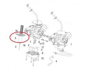Membrána karburátora 22mm Keeway Outlook, Logik, CityBlade 125