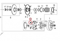 Spojková pružina pre SYM CROX 125, Fiddle II 125, Fiddle III 125, Jet4 125 1kus