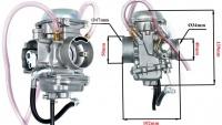 Karburátor PD34J-4 aj pre štvorkolky Suzuki 250/300