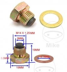 Skrutka vypúšťacia na motorový olej M14x1,25 magnetická