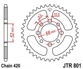 Rozeta 48z 420 pre ATV/Pitbike