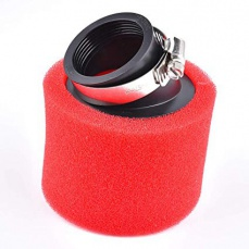 Vzduchový filter 42mm 45° červeno-čierny penový molitanový
