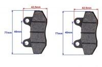 Brzdové obloženie pre pitbike XB33 a skútre