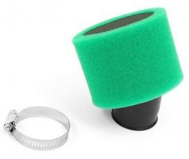 Vzduchový filter 48-50mm 45° molitanový