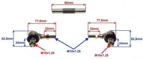 Čapy riadenie s tyčou pre ATV125 17cm až 20,5cm verzia2