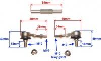 Čapy riadenie s tyčou pre ATV125 17cm až 20,5cm verzia3