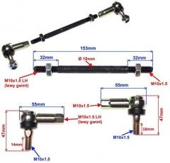 Čapy riadenia a tyč pre najmenšie štvorkolky 2páry