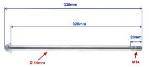 Oska M14x1.5 320mm pre zadnú nápravu ATV 150-200