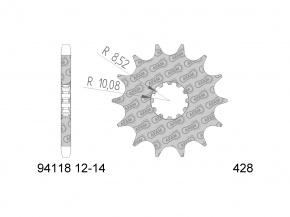 Záberové koliečko -pastorok 13z 428 pre Beta RR 50, HM, HRD, Sherco, Yamaha DT