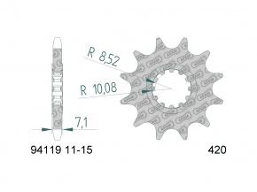 Záberové koliesko AM6 420 13 zubové CPI, Generic, Beeline, K-Sport