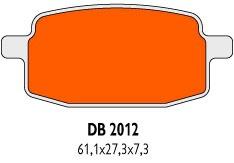 Brzdové obloženie Delta Braking Sinter DB2012SRN pre skútre GY6 50ccm