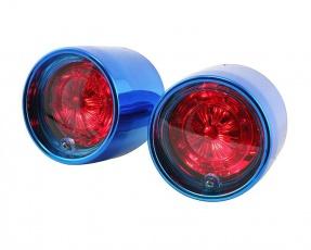 Zadné svetlo Lexus style pre skúter Aprilia SR 50 modré