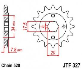 Záberové koliesko 12z pre Honda NSR, VT, XL 125ccm
